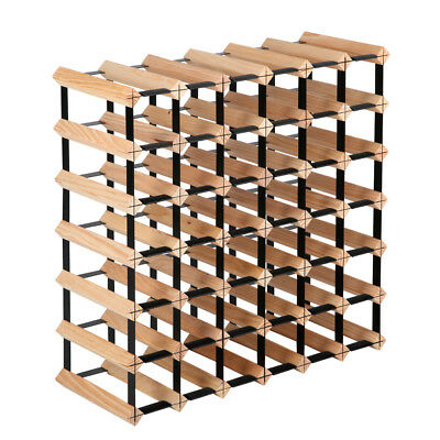 Timber Wine Rack 42 Bottles Home Garden Storage