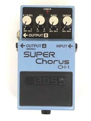 Used BOSS SUPER Chorus CH-1 Guitar Effects Pedal F/S Japan