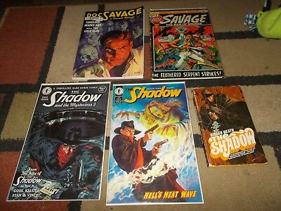 The Shadow~Doc Savage~Dark Horse Comics~Kenneth Robeson~Maxwell Grant~Lot