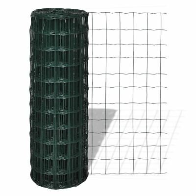 Fence Panel 25x1.8m Steel Mesh Landscaping Frame Tree Guards Garden Patio Green