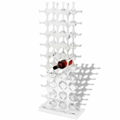 Wine Rack Holder Storage for 40 Bottles Aluminium Display Table Top Kitchen