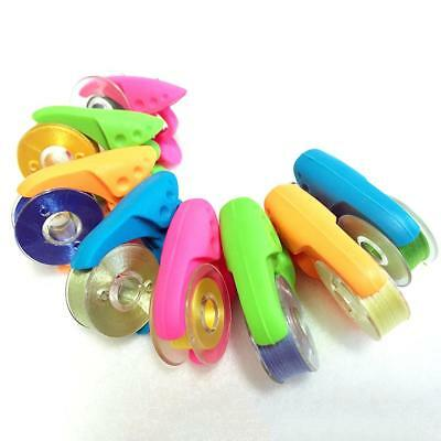 16pcs Assorted Silicone Bobbins Holder Bobbin Clamps Clips and Spool Huggers
