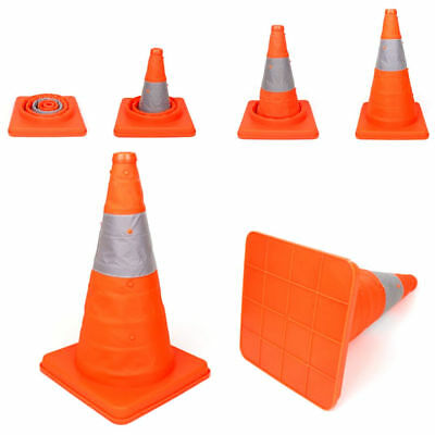 """Folding 18"""" Safety Cone Collapsible Traffic Driving Orange Road Safety Cone New"""