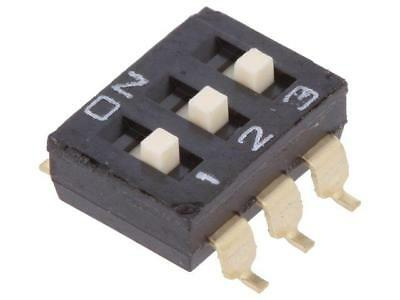 A6S-3104-H Switch DIP-SWITCH Poles number3 ON-OFF 0.025A/24VDC 100MΩ  OMRON