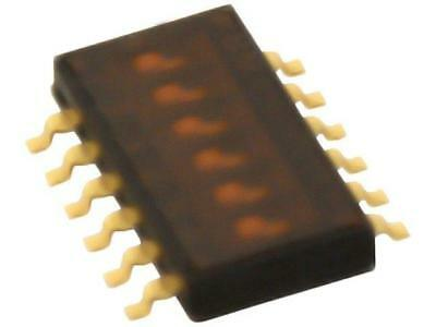 A6H-6102 Switch DIP-SWITCH Poles number6 ON-OFF 0.025A/24VDC 100MΩ  OMRON