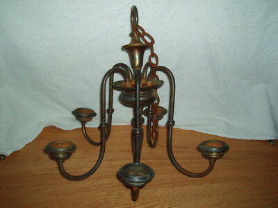 Antique 1800's Bronze Ornate Victorian  Electric Chandelier Ceiling Fixture