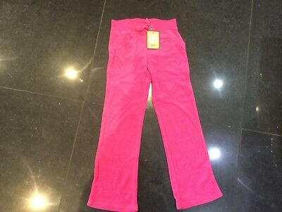 NWT Juicy Couture New & Genuine Girls Age 6 Pink Cotton Terry Towelling Pants