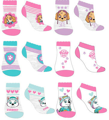 GIRLS PAW PATROL SOCKS - Cotton - Pack of 6