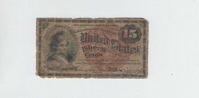 Fractional Currency Civil war era item to the 1870's  15 Cent lower grade