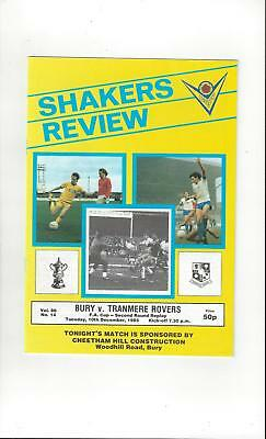 Bury v Tranmere Rovers FA Cup Replay Football Programme 1985/86
