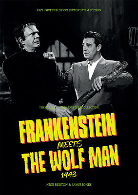 Frankenstein Meets the Wolf Man 1943 Lugosi Chaney horror movie magazine