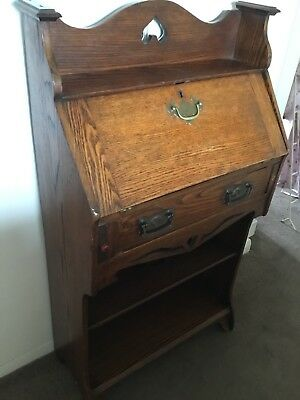Lovely Mahogany Bureau Writing Desk