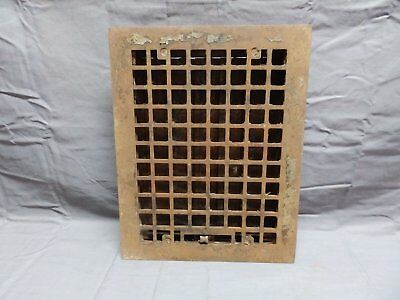 Antique Cast Iron Floor Wall Heat Grate 14x11 Louvres Arts Crafts Vtg 333-18P