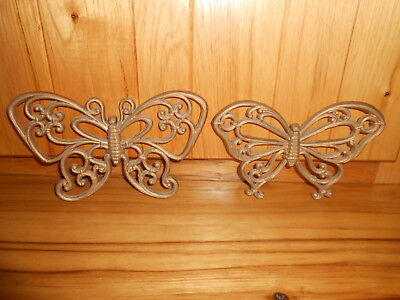 2 Vintage 1978 Homco Syroco Butterfly Wall Plaques  7537