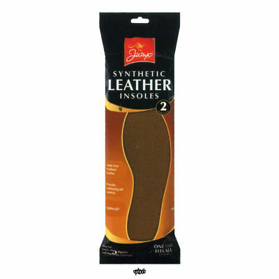 Jump Synthetic Leather 2 Pairs Unisex Shoe Insole Footwear One Size Fit To All