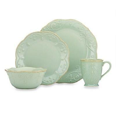 NEW Lenox French Perle 4-Piece Dinnerware Collection Set in Ice Blue