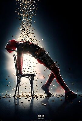 "Deadpool 2 Movie Poster Ryan Reynolds Superhero Art Print 13x20"" 27x40"" 32x48"""