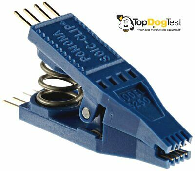 """ NEW "" Pomona 5250 SOIC Test Clip, 8 Pin, 0.050"" Lead Spacing, 0.430"" Width"