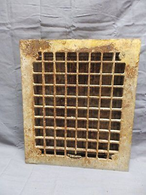 Antique Cast Iron Floor Heat Grate Register 14x12 Arts Craft Vtg Old 339-18P