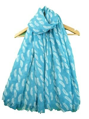 Women Ladies Long Fashion Pretty Feather Pattern Print Shawl Scarf Scarf Stole