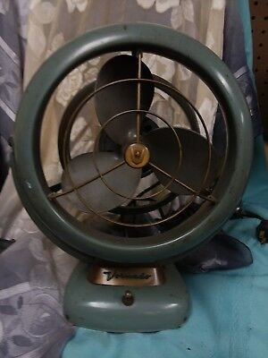 Vintage Vornado Desk Fan  B28C1-1 Sage B50  Industrial Steampunk Works