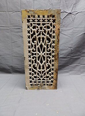 Antique Cast Iron Through the Floor Ceiling Heat Grate Register Vent Vtg 344-18P