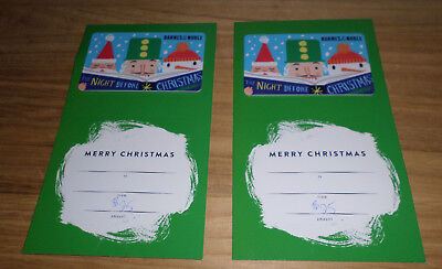barnes and noble gift cards 2 x 25 christmas motif