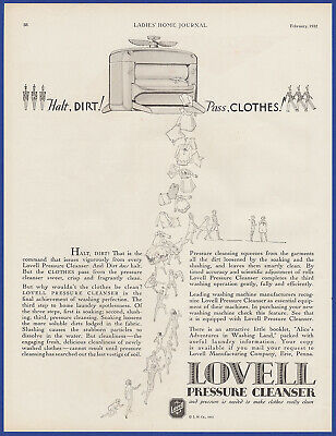 Vintage 1932 LOVELL Pressure Cleanser Laundry Appliance Decor Print Ad 1930's