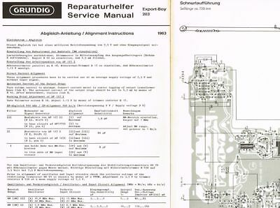 Grundig Export-Boy 203  Kofferradio Schaltplan Manual original 1963