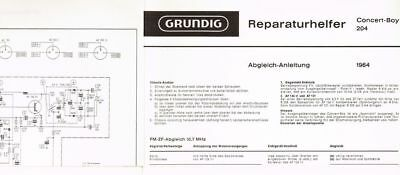 Grundig Concert-Boy 204   Kofferradio Schaltplan Manual original 1964