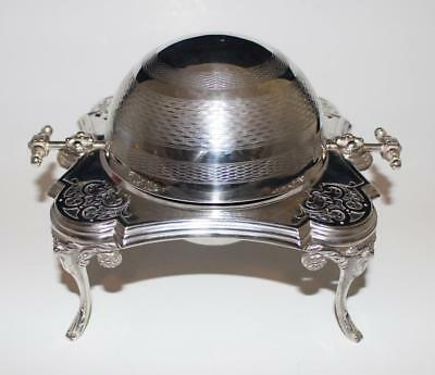 WMF, WMFM, 1886-1903, Silver Plated Round Butter or Caviar Dish w/Rotating Dome