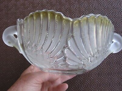 Vintage Swan Bowl - Opaque And Clear Glass