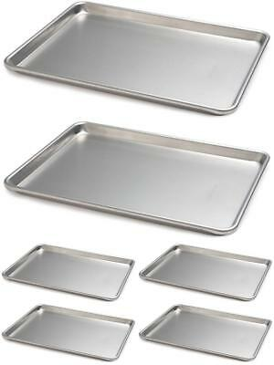Two Commercial Grade Half Size Sheet Aluminum Pans 18 x 13 Inch Set Of 2