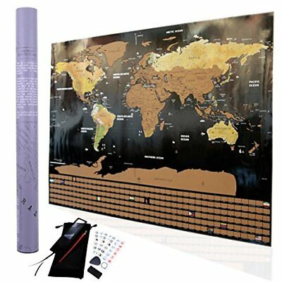 Deluxe scratch off travel tracker world map detailed usa and scratch off world map poster i travel tracker map i map pins i detailed usa gumiabroncs Choice Image