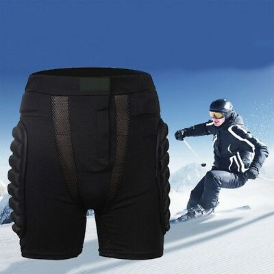 Men's Padded Skiing Snowboard Hip Protect Pants Shorts Sports Protector Gear New