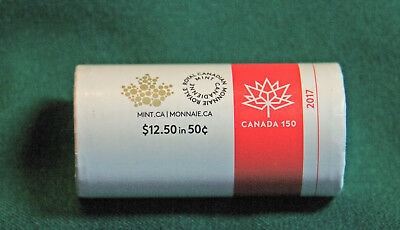 2017 CANADA 150 Design Fifty cent roll special wrap: extra rolls only SH $2.99