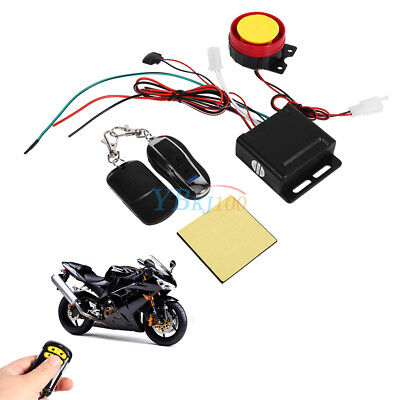 Motorcycle Bike Anti-theft Security Alarm System Remote Control Set 12V 125DB