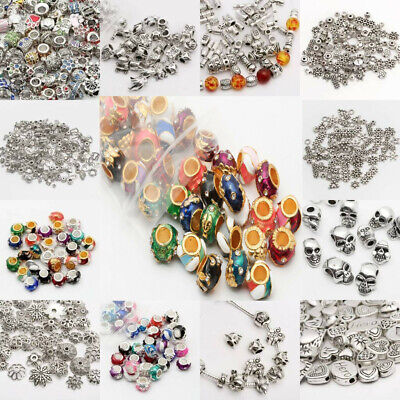 Lot  500Pcs Tibet Silver Beads Spacer For Jewelry Making European Bracelets