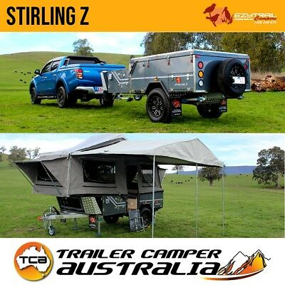 Ezytrail Stirling Z Off Road Hard Floor Camper Trailer Lightweight Forward Fold