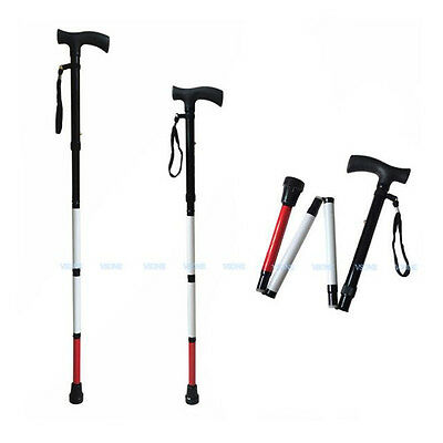 Adjustable Folding Support Cane for the Blind 33 inch - 37 inch ( 4 Sections)