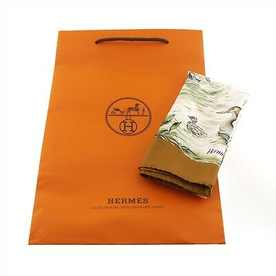 Authentic HERMES Halte en Camargue Scarf Multi-Color Silk #f02568