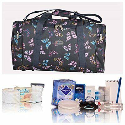 Navy butterfly pre-packed hospital/maternity bag new mum & baby shower newborn
