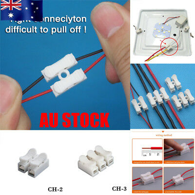 30/100Pcs Electrical Quick Splice Cable Connectors Wire Self Locking Terminals
