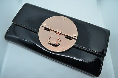 Mimco Turnlock Rose Gold Patent Leather Wallet - Brand New