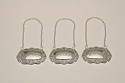 Silver plated Decanter labels