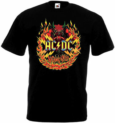 AC/DC Highway To Hell logo T-shirt black poster all sizes S...5XL