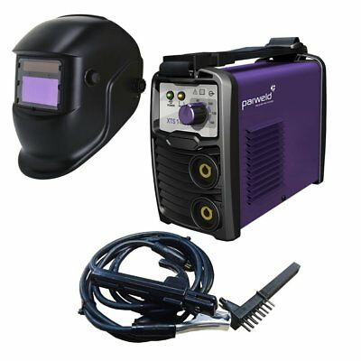 Parweld XTS142 Inverter Arc Welder 230v with Leads & Light Reactive Helmet