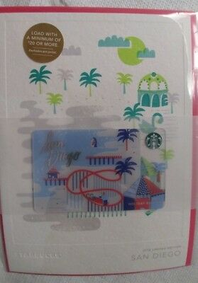 Starbucks Card 2016  Limited Edition  San Diego, With Envelope  & Greeting Card