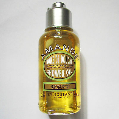L'Occitane Amande Cleansing & Softening Shower Oil with Almond Oil 75ml NEW