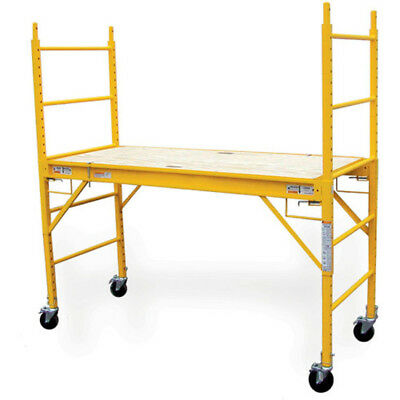 Drywall Baker Scaffolding w 1000 lb Capacity Indoor Out 6 Ft. x 6 Ft. x 29 In